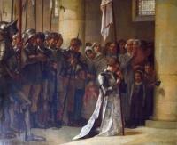 par paul-hippolyte flandrin ''Jeanne d'Arc priant dans l'église de Sèvres''