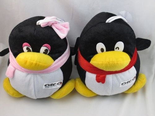 pingouins couple peluches