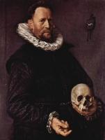 portrait-of-a-man-holding-a-skull (Frans Hals, 1612)
