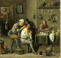 David Teniers le Jeune ''le chirurgien-barbier'' XVIIe