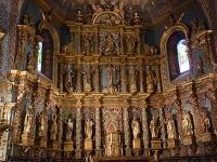 Retable en bois doré sculpté de l'église Saint-Jean Baptiste à St-Jean-de-Luz par martin bidache et