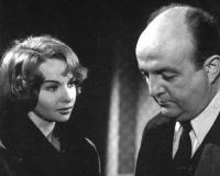 Françoise Arnoul et Blier dans ''la Chatte'' (Decoin,1958)