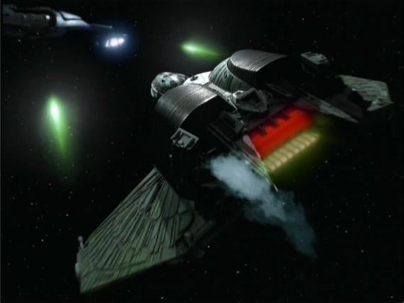 vaisseau klingon IKS Rotarran vs jem'hadars
