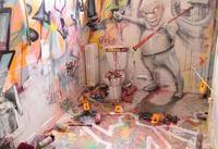 Tour Paris 13 un street artist s'est attaqué à redécorer des wc..^^