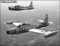 Republic F84 chasseurs-bombardiers engagés durant la guerre de Corée et l'expédition franco-britanni