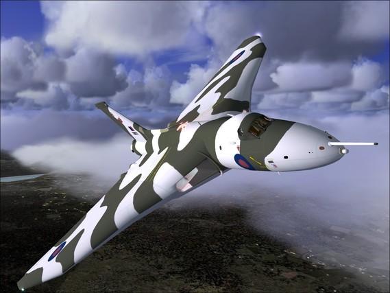 Avro Vulcan volant à basse altitude [surclaro.com]