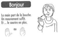 BONJOUR langue des signes