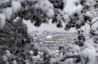 Jérusalem sous la neige 10 janvier 2013