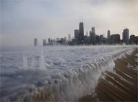Chicago, Lac michigan janvier 2014