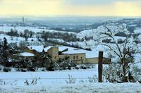 au-dessus de Castelnau-de-Lévis dans le Tarn le 16 janvier 2013 [photo J-M.Lamboley, la Dépêche]