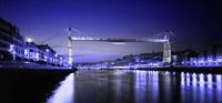 pont suspendu de Biscaye qui franchit le nervion pour relier Portugalete et Getxo