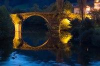 vieux pont de Bidarray la nuit
