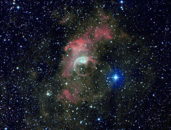 NGC 7635 la nébuleuse de la bulle