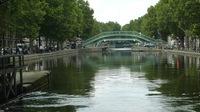 passerelle alibert et pont tournant au-dessus du canal saint-martin, paris 10e