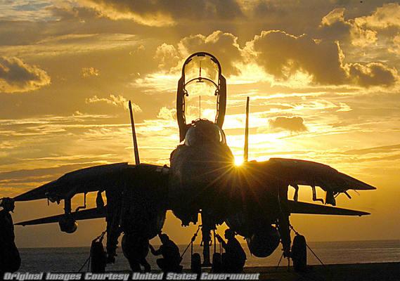 silhouette F-14 Tomcat