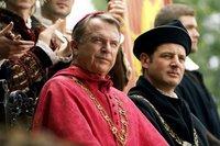 le cardinal Wolsey et (sam neill, les Tudors, saison 1)