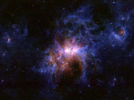 environs poussiéreux d'Eta carinae