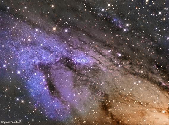 NGC206 amas ouverts extraglactiques dans la galaxie d'Andromède [photo de Fabrizio Francione]