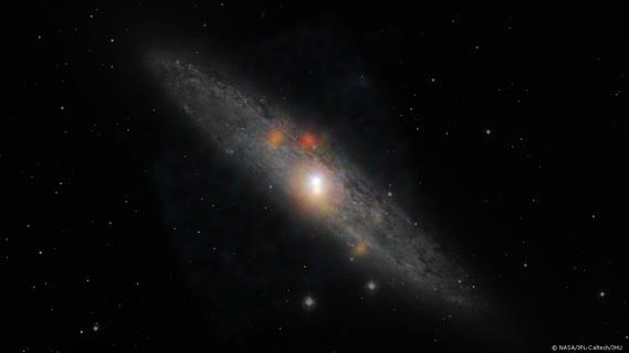 trou noir dormant dans la galaxie du sculpteur