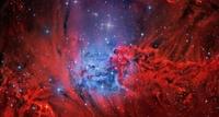 Nébuleuse de la Fourrure de renard dans la constellation de la Licorne