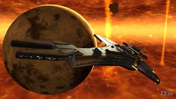 vaisseau cardassien évoluant dans les terres brûlées