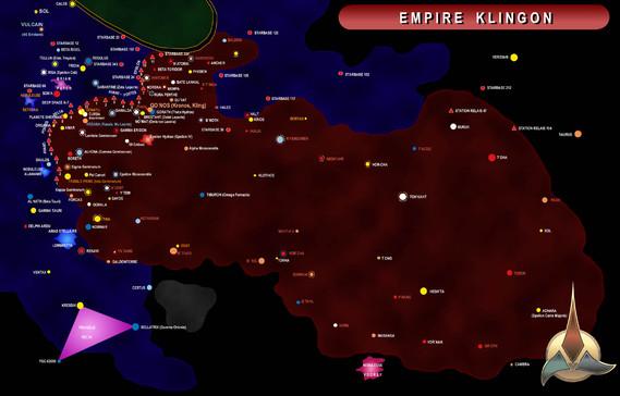 carte de l'Empire Klingon [trek-ts-org]