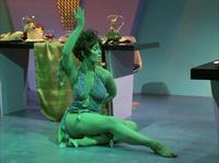 la jolie danseuse verte Marta