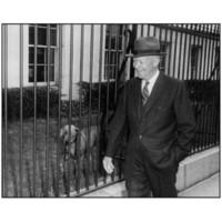 Dwight Eisenhower et sa chienne heidi
