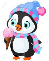 Pingouin-qui aime trop les glaces_Banque-d'images