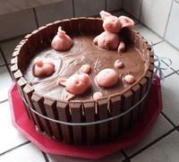 gâteau piscine cochon