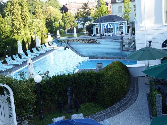 hôtel Bell Rock piscine vue de notre chambre