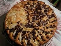 gâteau yaourt avec pépite de chocolat et poires