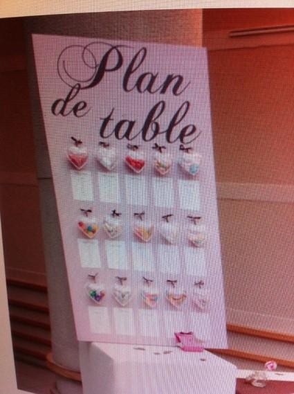 Plan de table coeur fourre tout mariage ebenes - Plan de table coeur mariage ...