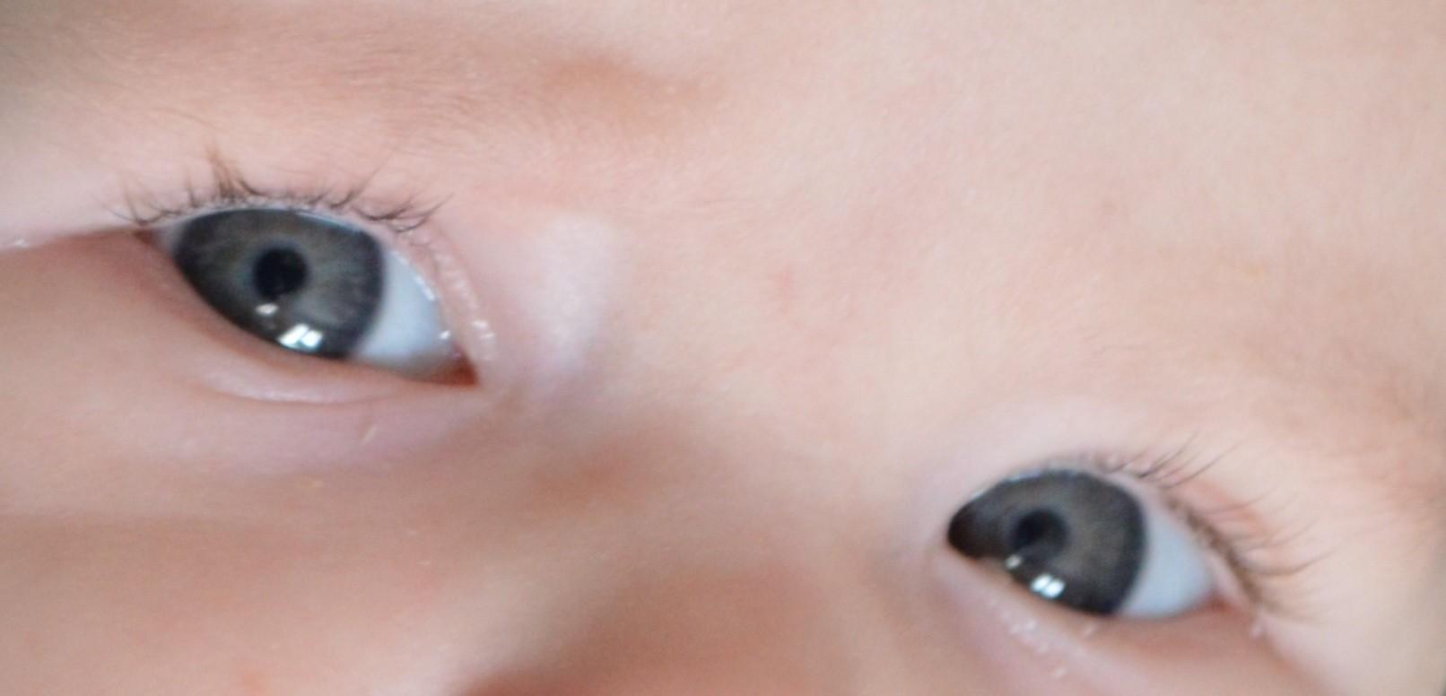Couleur Gris Bleu Foncé couleur yeux bébé 5 mois (papa yeux bleus - maman yeux