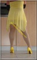 Robe jaune de soiree 2
