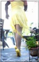 Robe jaune de soiree 3