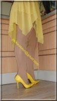 Robe jaune de soiree 5