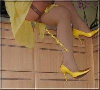 Robe jaune de soiree 7