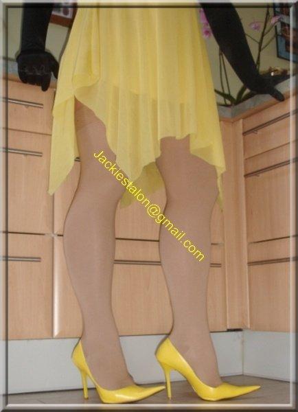 Robe jaune de soiree 8