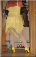 Robe jaune de soiree 11