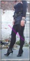 minijupe noir similie cuir 9