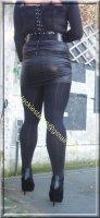 minijupe noir similie cuir 37