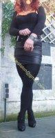 minijupe noir similie cuir 39