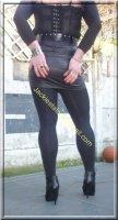 minijupe noir similie cuir 45