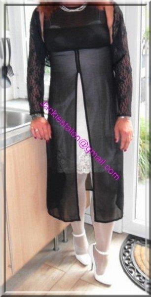 robe noir transparente 2