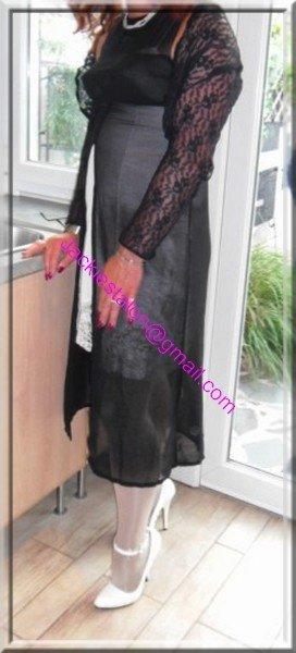 robe noir transparente 5