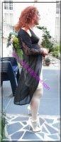 robe noir transparente 13