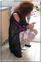 robe noir transparente 40