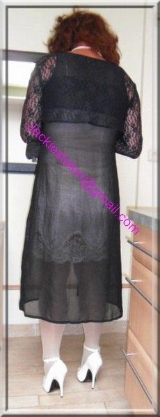 robe noir transparente 54