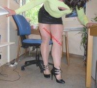 minijupe noir blouse verte 12